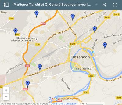 Pratiquer Tai Ji et Qi Gong à Besançon
