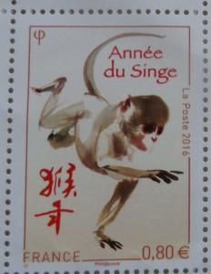 timbre année 2016 année du singe