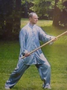 Michel Duchaussoy au bâton