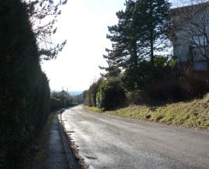 Rue du belvédère à Montfaucon