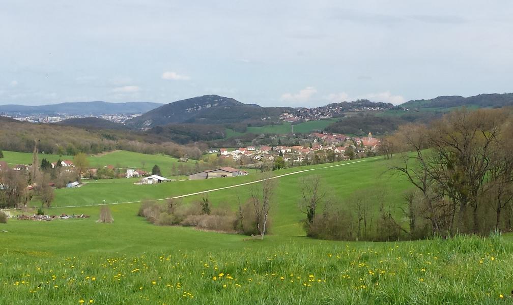 Vorges : vue sur Busy, Fontain, Planoise