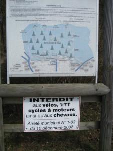 Parcours santé de Boussières affiche 2009