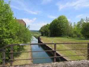 Véloroute à Thoraise, pont sur le canal