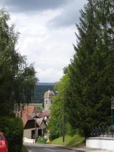 le clocher de Chalèze de la rue du Mont