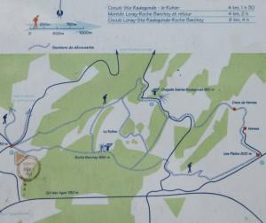 plan des sentiers de Loray