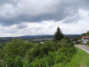 Thise et la forêt de Chailluz vus de Chalèze