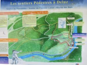 plan des sentiers de Deluz