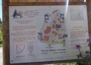 Ornans plan du château