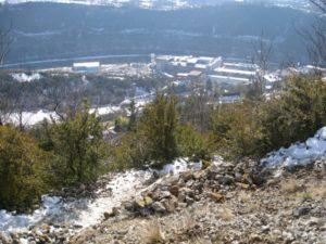 La Rhodia de Bregille en hiver
