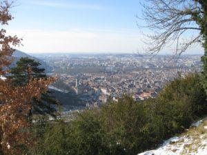 Vue sur Besançon depuis Bregille