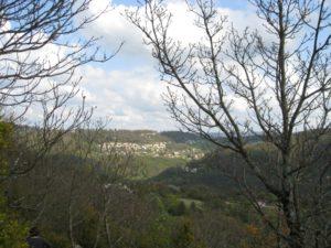 Vue sur Morre depuis le fort de Bregille