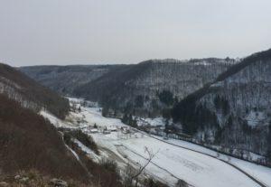 vallée de la Brême en hiver