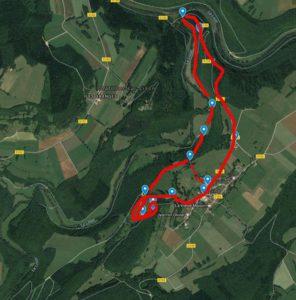 Lison Lizine tracé d'un parcours de 6 km