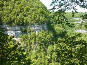 gorges de Nouailles falaise rive gauche