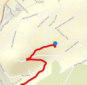 plan d'accès à Bregille