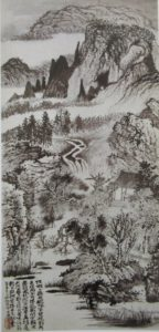 Monts Jinting par Shitao