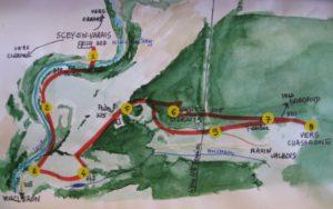Plan du parcours de Scey St Denis