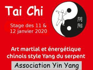 Tai Ji martial stage de janvier 2020