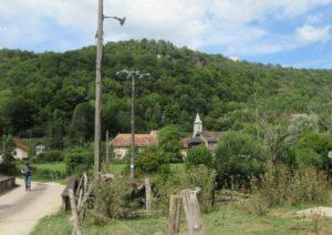 Cusance pont et église