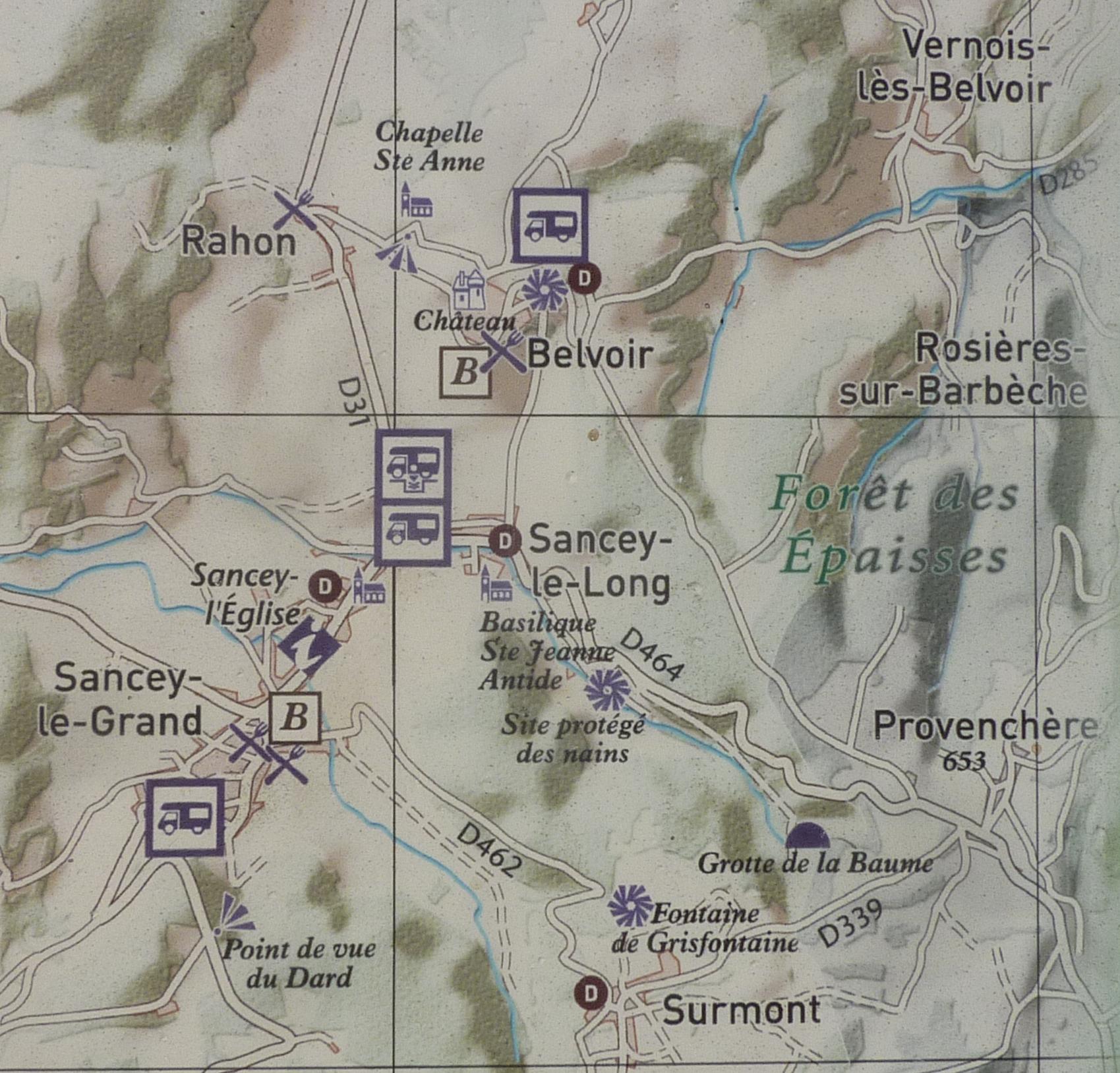 Carte Sancey et Belvoir