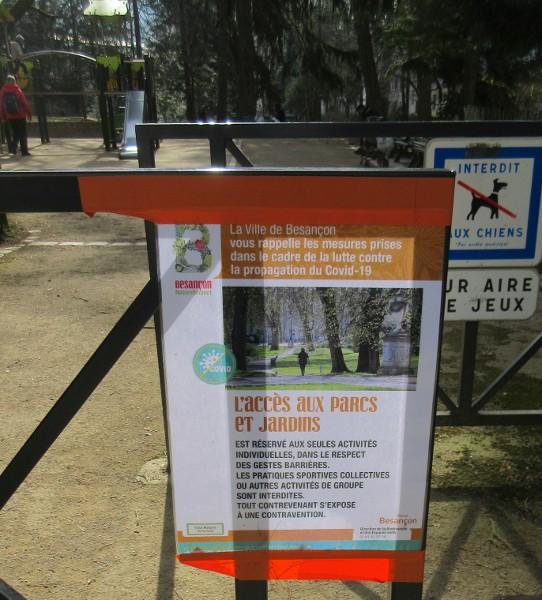 sport interdit au parc
